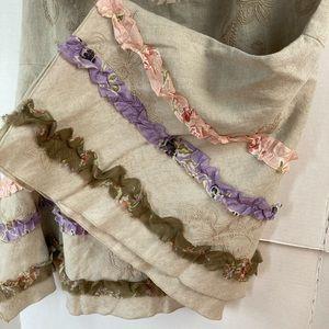 J. Jill Skirts - J JILL | 51-5213 Flax Multi Linen Skirt w Ruffles